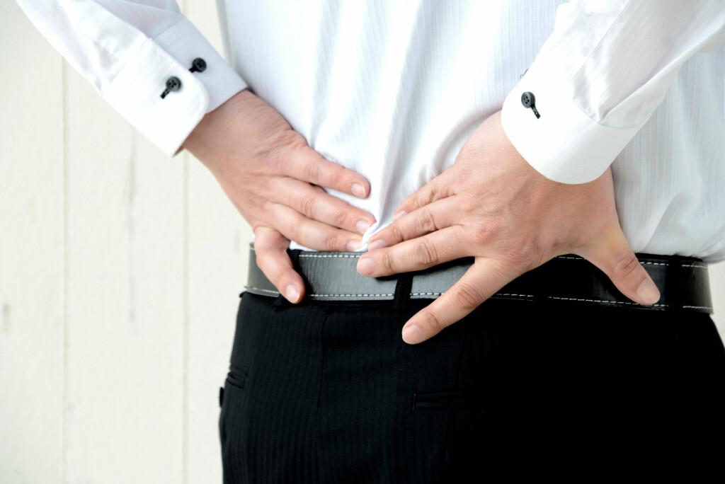 Korsryggsmerter: mertene sitter i nedre del av ryggen, og smerten stråler av og til ned i rumpeballene Foto: NTB Scanpix