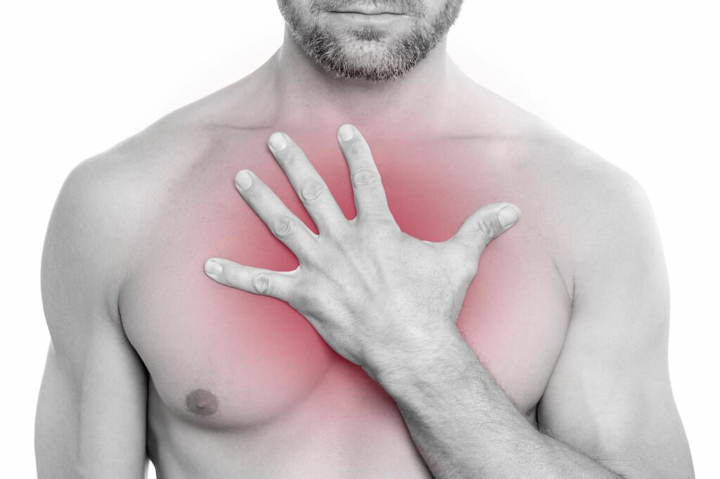 Smerter: Halsbrann gir ofte brennende smerter i brystet. Foto: NTB Scanpix