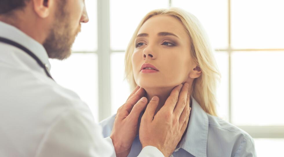 INFEKSJON: Virus er den hyppigste årsaken til sår hals. Foto: George Rudy/ Shutterstock NTB scanpix