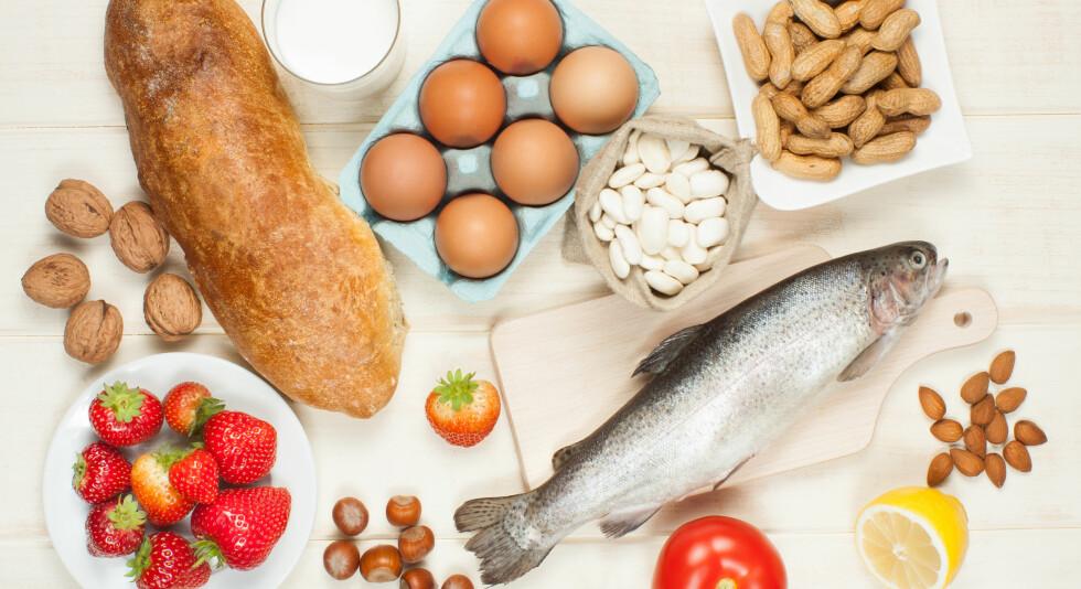 Matvareallergi: Noen får allergiske reaksjoner av å spise enkelte matvarer. Foto: NTB Scanpix