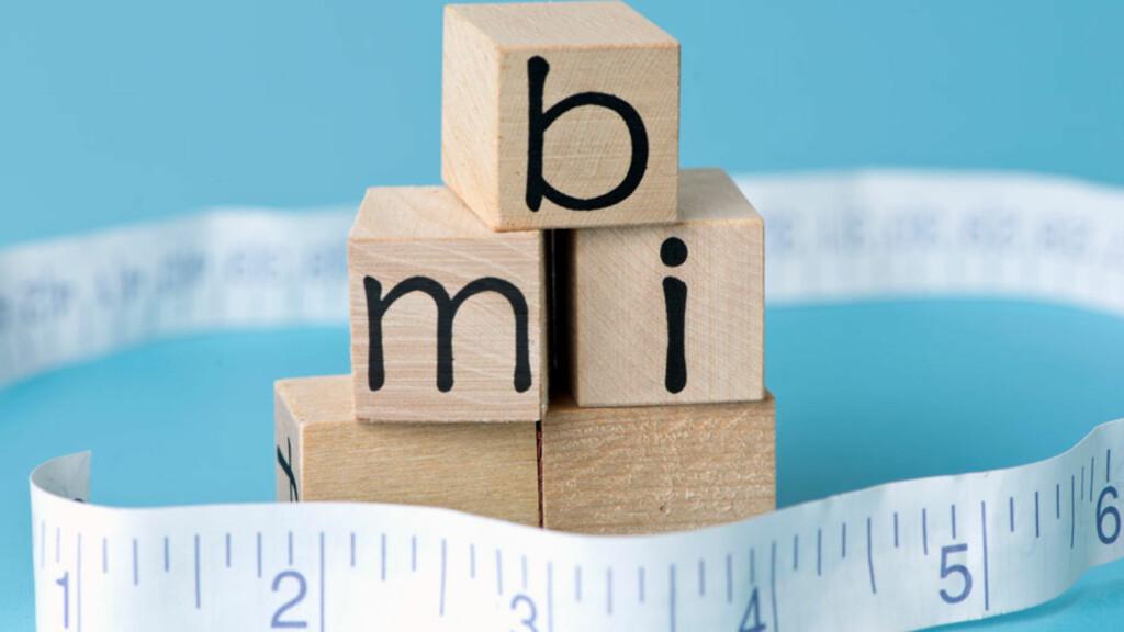 BODY MASS INDEX: BMI er et mål på forholdet mellom vekt og høyde, og kan fortelle deg om du er normal- eller overvektig. Foto: NTB Scanpix/Shutterstock