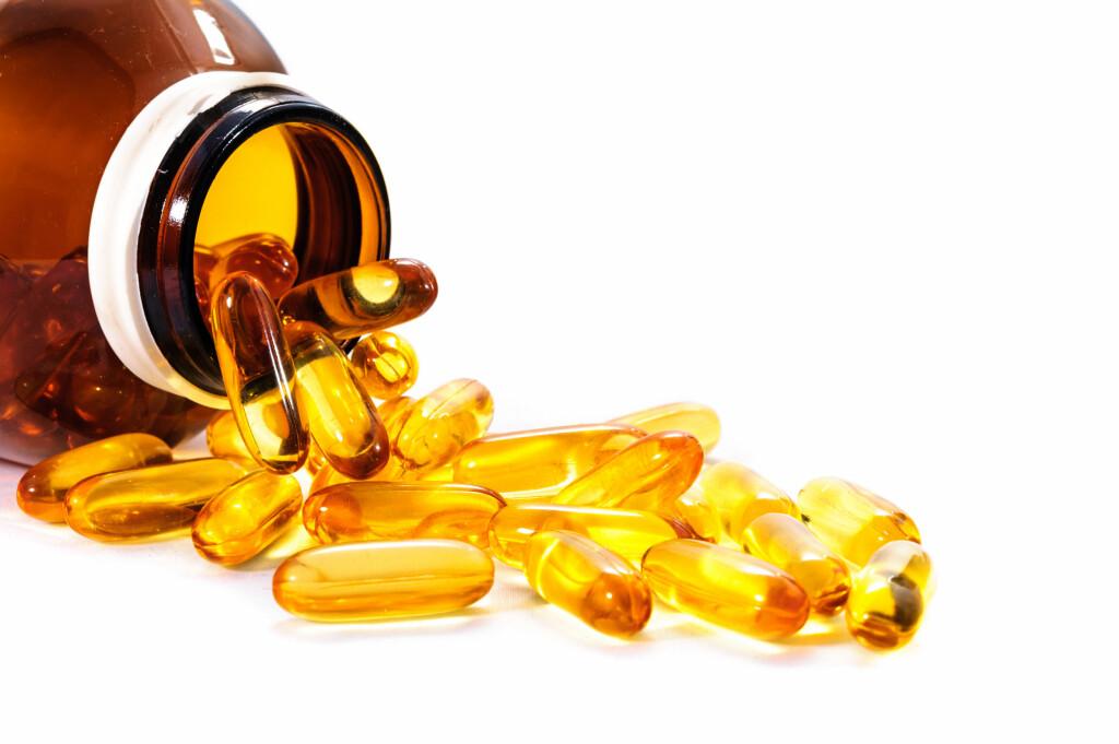 D-VITAMIN: D-vitamintilskudd kan tas via tran, tabletter, kapsler eller dråper. Foto: NTB Scanpix