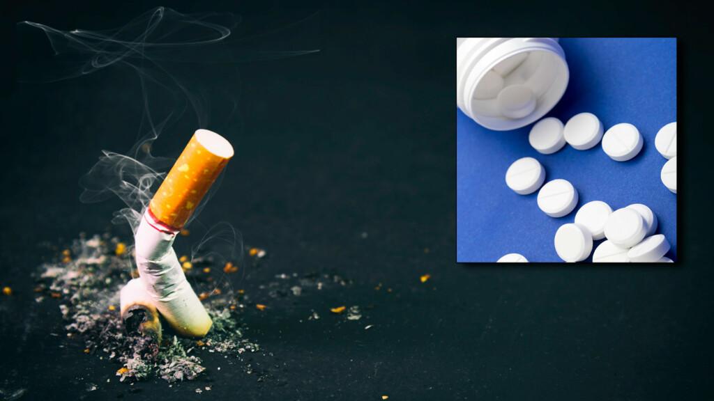 KAN GJØRE RØYKESLUTT LETTERE: Legemidler og medisin som kan gjøre det lettere å slutte å røyke. Foto: NTB Scanpix/Shutterstock
