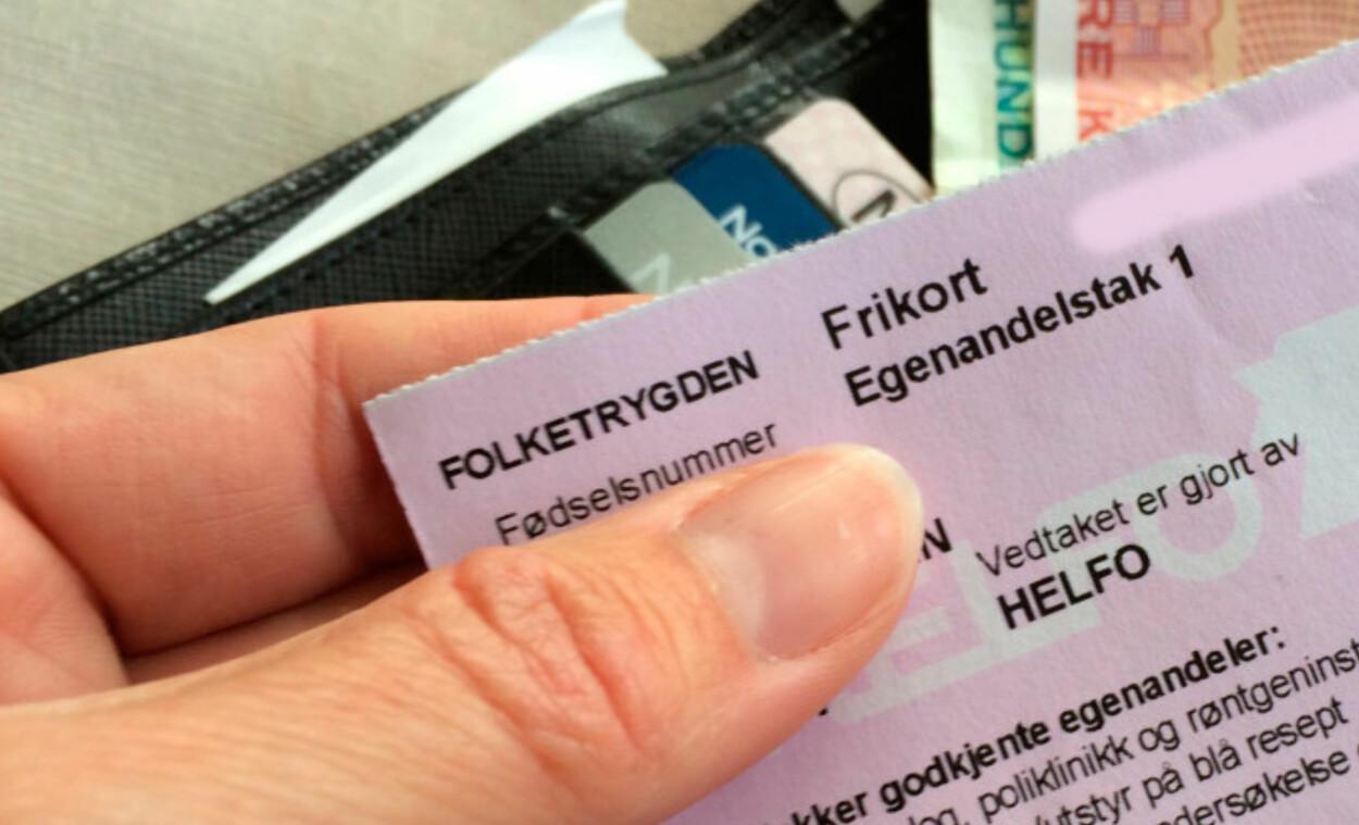 FRIKORT: Hvis du viser frem kortet, slipper du å betale egenandel ved legebesøk. Kortet blir sendt til deg i posten fra HELFO.  Foto: Dinside.no / KRISTIN SØRDAL