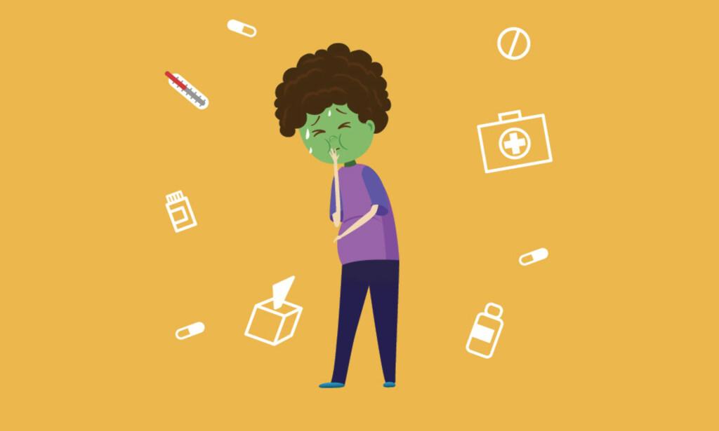 KVALM? Kvalme og oppkast kan være symptom på mange ulike tilstander.