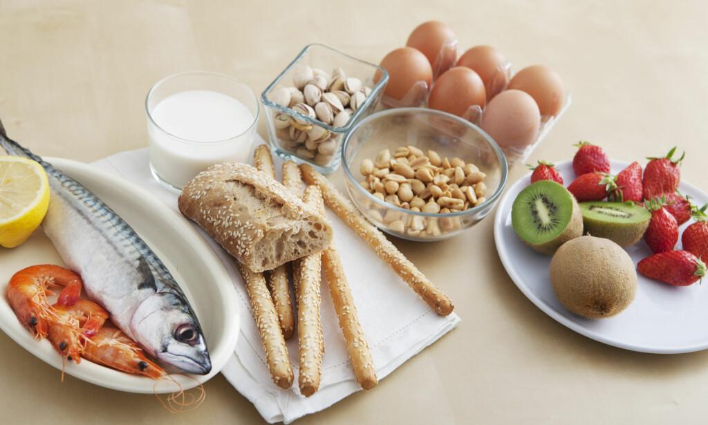 MATVAREALLERGI: Melk, hvete og egg er blant de vanligste matvareallergiene i befolkningen. Foto: NTB SCAnpix / Shutterstock