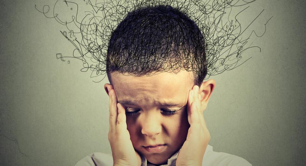 SLITSOMT: Mange barn strever med tvangstanker. Heldigvis finnes det hjelp for å bli kvitt de plagsomme tankene. Foto: NTB Scanpix / Shutterstock