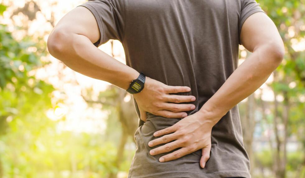 RYGGSMERTER: 60-80 prosent av befolkningen får ryggsmerter en eller flere ganger i løpet av livet. FOTO: NTB Scanpix