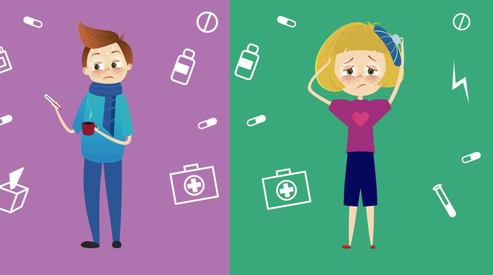REDSEL FOR Å VÆRE ALVORLIG SYK: Helseangst er en tilstand hvor man stadig er redd for å være svært syk. At undersøkelser avviser dette, er vanskelig å tro på når du har helseangst. Foto: NTB Scanpix / Shutterstock