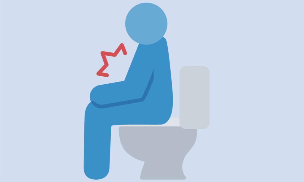DIARÈ OG MAGESMERTER: Diarè kan opptre alene, eller også sammen med oppkast. ILLUSTRASJON: Ntb Scanpix / Shutterstock