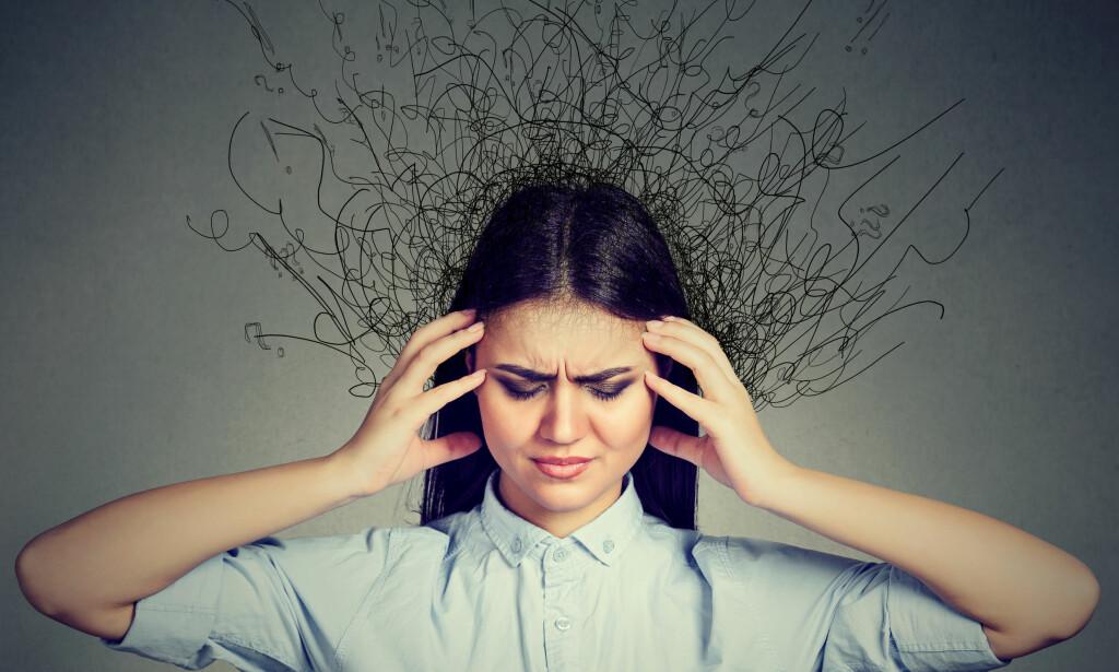 NERVØSITET OG BEKYMRINGER: Generalisert angst gjør det vanskelig å kontrollere tankene. Foto: NTB Scanpix / Shutterstock