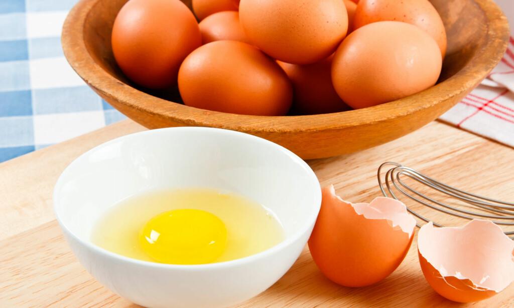 EGGALLERGI: Allergi mot egg er vanligst hos små barn, som gjerne vokser det av seg før skolealder. Foto: NTB Scanpix / Shutterstock