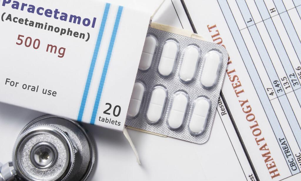 PARACETAMOL: Som andre medisiner markedsføres virkestoffer paracetamol med flere forskjellige handelsnavn.- Sjekk derfor virkestoffet. Foto: NTB Scanpix / Shutterstock