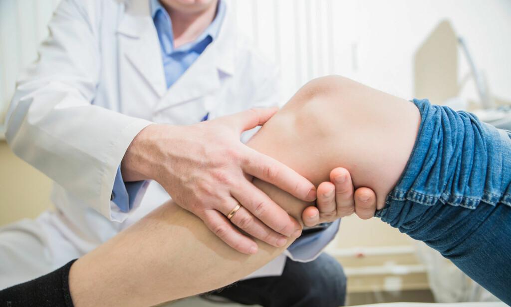 SMERTER I LEGGEN: Det er flere ulike tilstander som kan gi smerter i leggen. Les om årsakene her. Foto: NTB Scanpix/Shutterstock