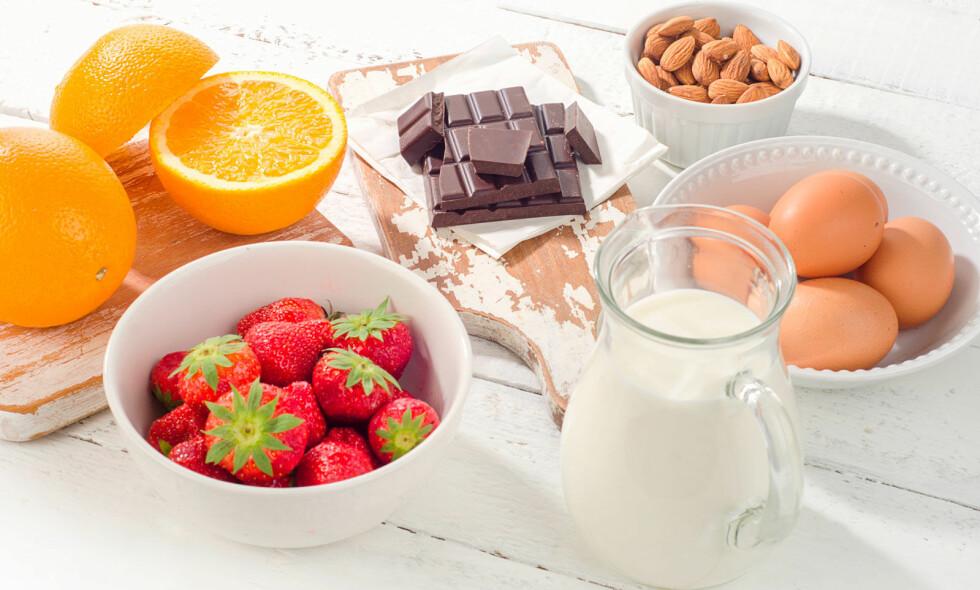 REAGERER PÅ MATVARER: Noen matvarer forårsaker oftere matallergi og matintoleranse. Foto: NTB Scanpix/Shutterstock