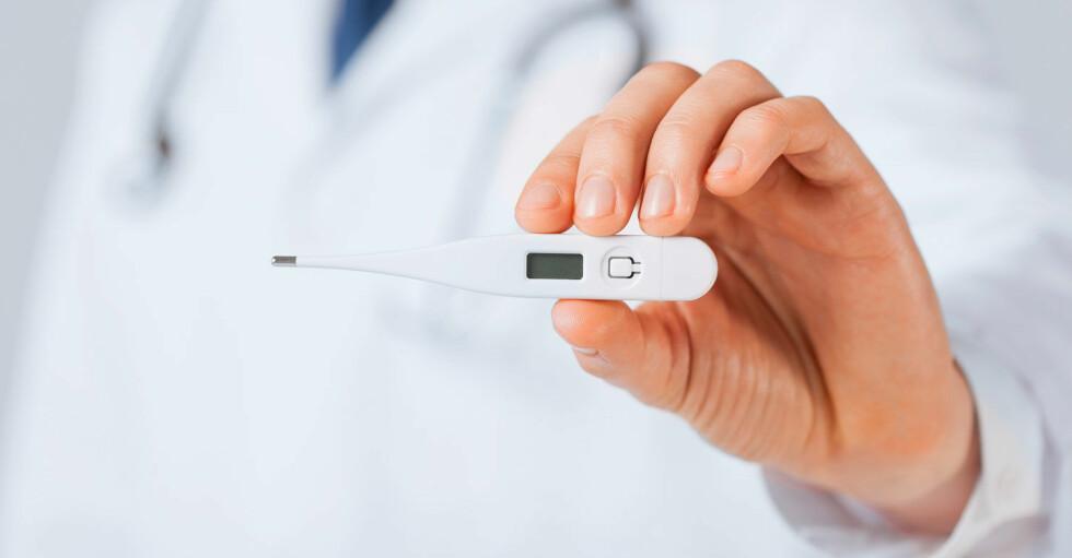 FOR HØY ELLER LAV? Svaret er at en normal kroppstemperatur kan variere ganske mye, både mellom ulike personer og hos en og samme person i ulike tidsrom. Foto: NTB Scanpix/Shutterstock