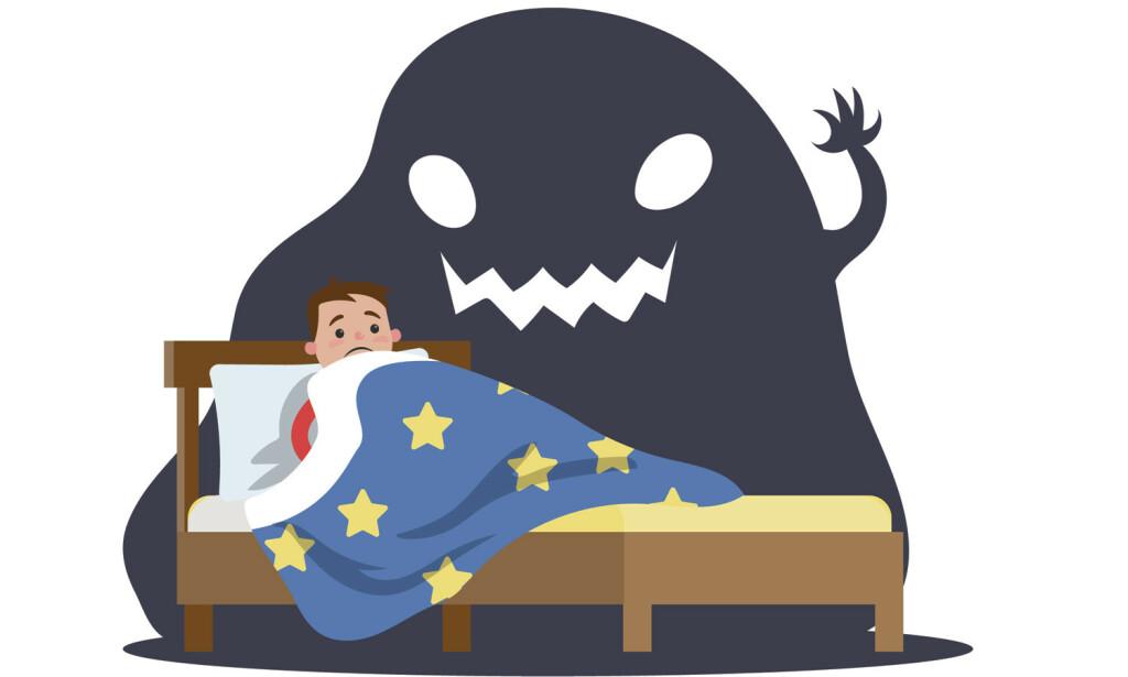 ER DET NOEN I ROMMET? Mellom våken tilstand og søvn, er det ikke så lett å skille virkelighet fra drøm. Illustrasjon: NTB Scanpix/Shutterstock