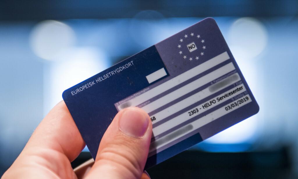 <b>TRYGGHET:</b> Europeisk helsetrygdkort er lurt å ha med seg når du er på reise eller ferie i utlandet. Foto: NTB Scanpix / Jon Olav Nesvold