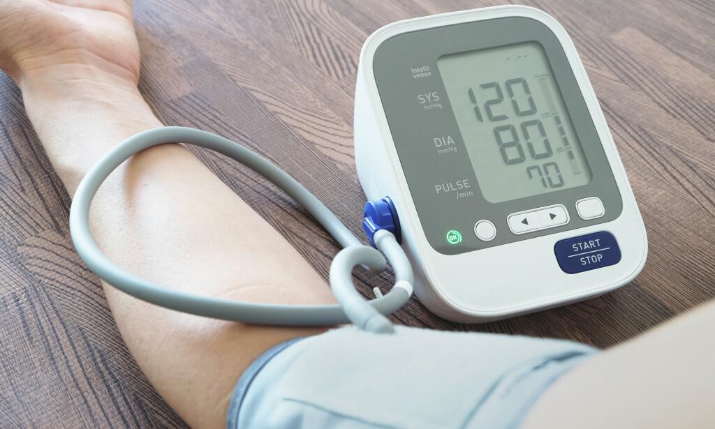 Høyt blodtrykk: Som regel vet man ikke årsaken som ligger bak høyt blodtrykk, men det er mye du selv kan gjøre for å minimere risikoen. Foto: NTB Scanpix