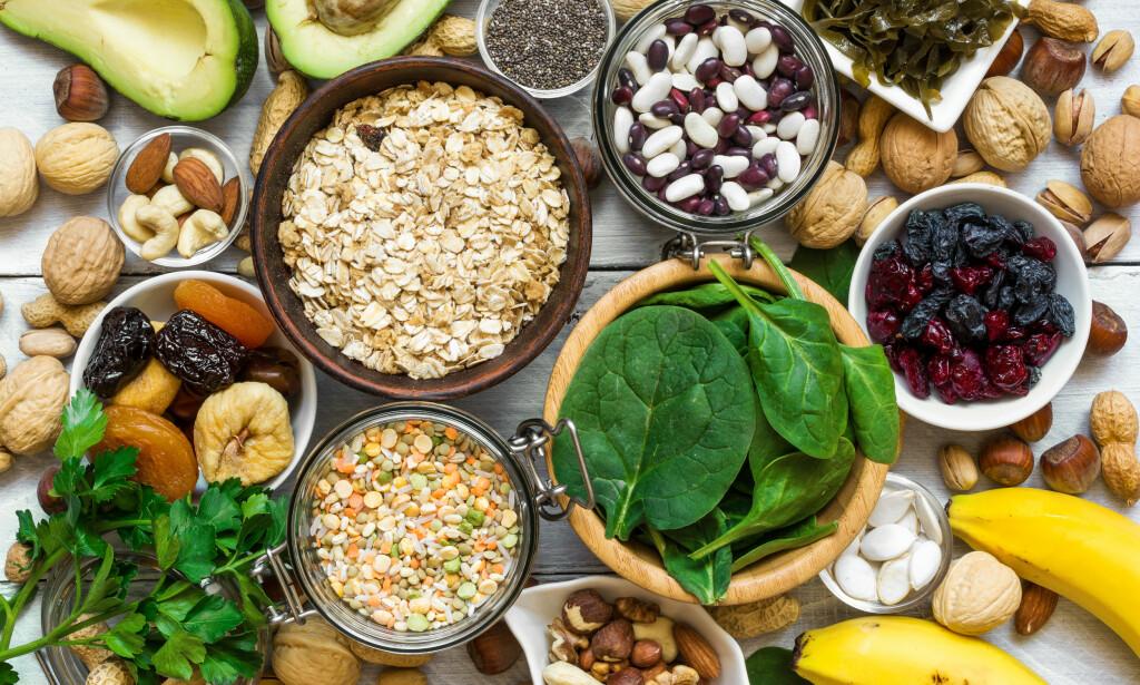 MAGNESIUM: Disse matvarene inneholder mye magnesium. Foto: Shutterstock / NTB Scanpix