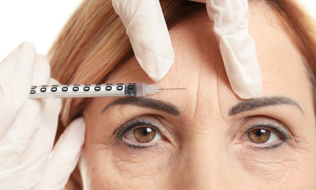 RYNKER: Botox blir brukt til å redusere rynker i ansiktet, men blir også brukt ved andre medisinske tilstander i høyere doser. Foto: Shutterstock / NTB Scanpix