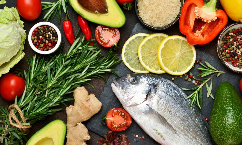 MIDDELHAVSDIETTEN: Består av mye grønnsaker og annen plantemat. Foto: NTB Scanpix/Shutterstock