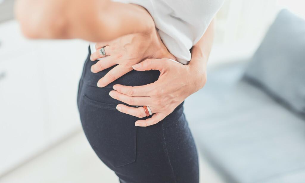 SMERTER: Hoftesmerter er vanlig også blant fysisk aktive. Foto: Shutterstock / NTB Scanpix