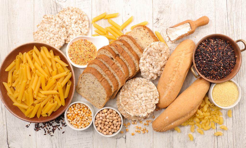 GLUTEN: Kornprodukter og pasta er rike på gluten. Foto: Shutterstock / NTB Scanpix