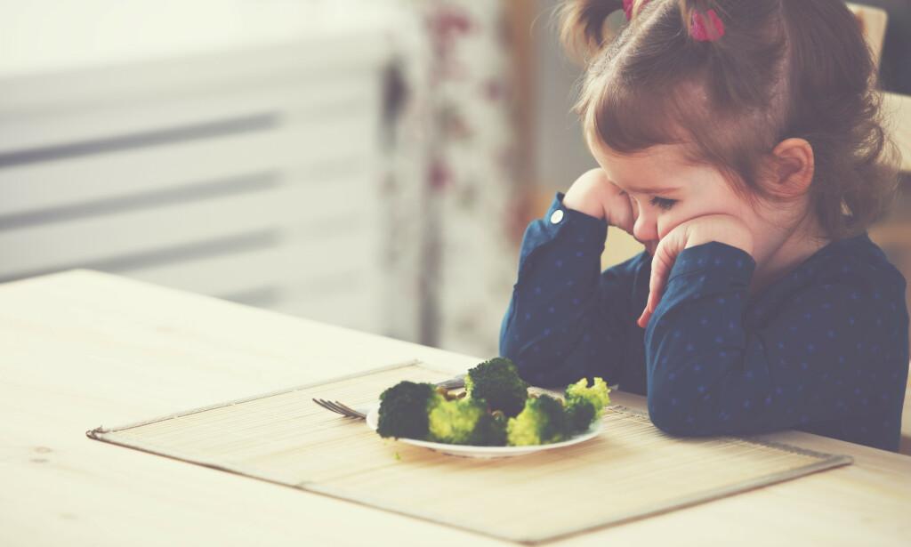 DÅRLIG MATLYST: Det er ikke alltid lett å vite hvorfor den lille plutselig ikke vil spise. Foto: Shutterstock / NTB Scanpix