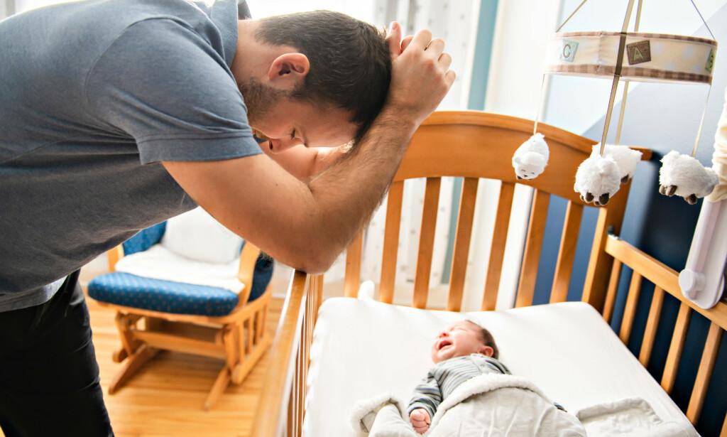 FØDSELSDEPRESJON: Lidelsen er langt vanligere hos kvinner, men også menn kan få depressive plager som nybakte fedre. Foto: Shutterstock / NTB Scanpix.