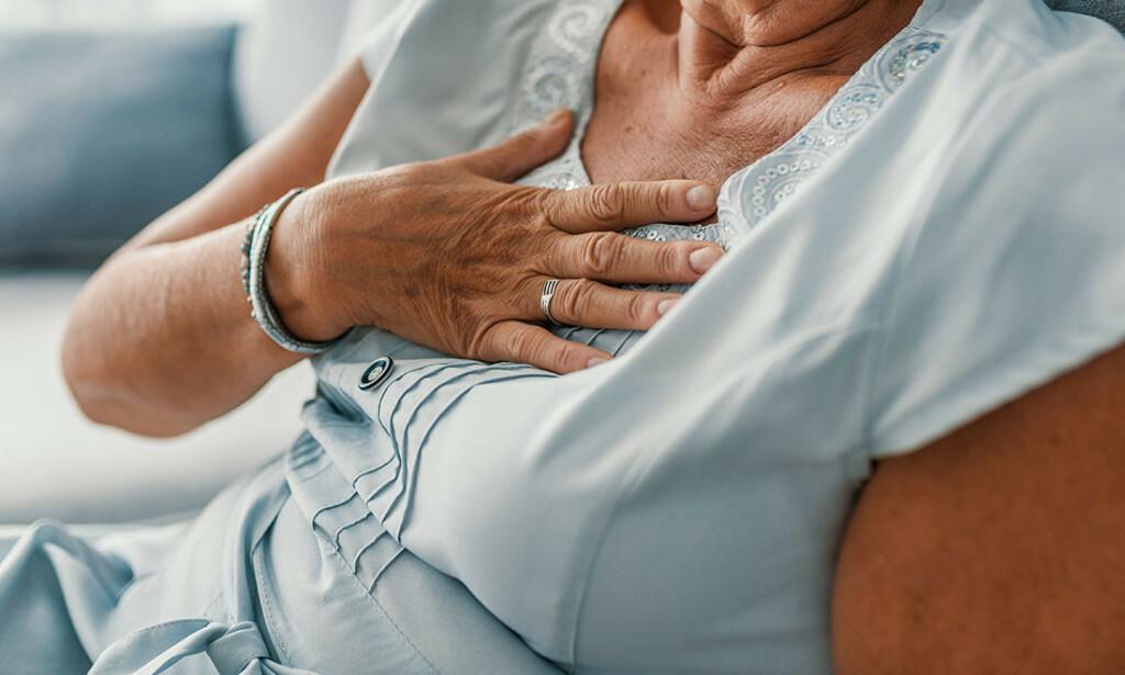 PUSTEPROBLEMER: Søk alltid legehjelp hvis du har problemer med å puste. Foto: NTB Scanpix/Shutterstock