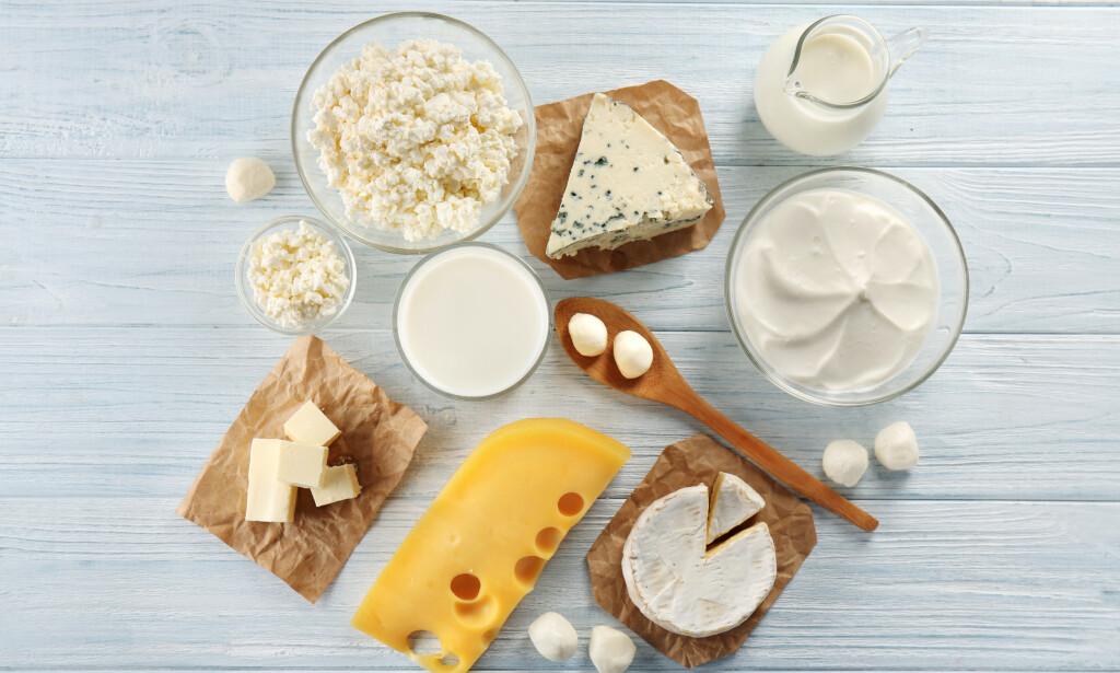 MELKEPRODUKTER varierer i laktoseinnhold, noen har naturlig lavt innhold, andre kan gjøres laktosereduserte. Foto: NTB Scanpix / Shutterstock
