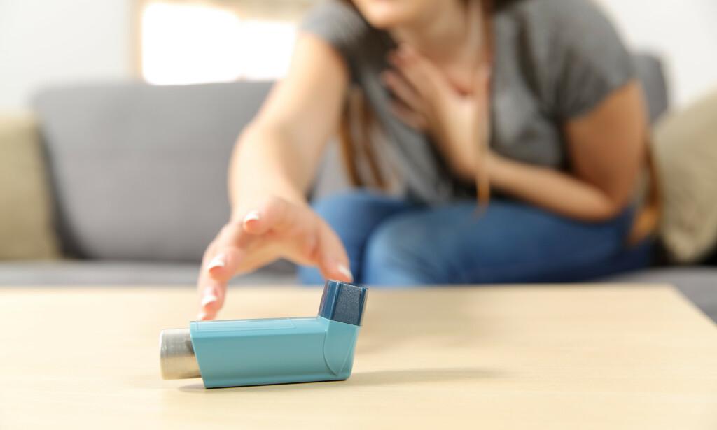 ASTMA: Basert på opplysninger fra andre land tror man at de med dårlig regulert astma, kan ha høyere risiko for å få et alvorlig sykdomsforløp av coronaviruset. Foto: NTB/ Scanpix/ Shutterstock
