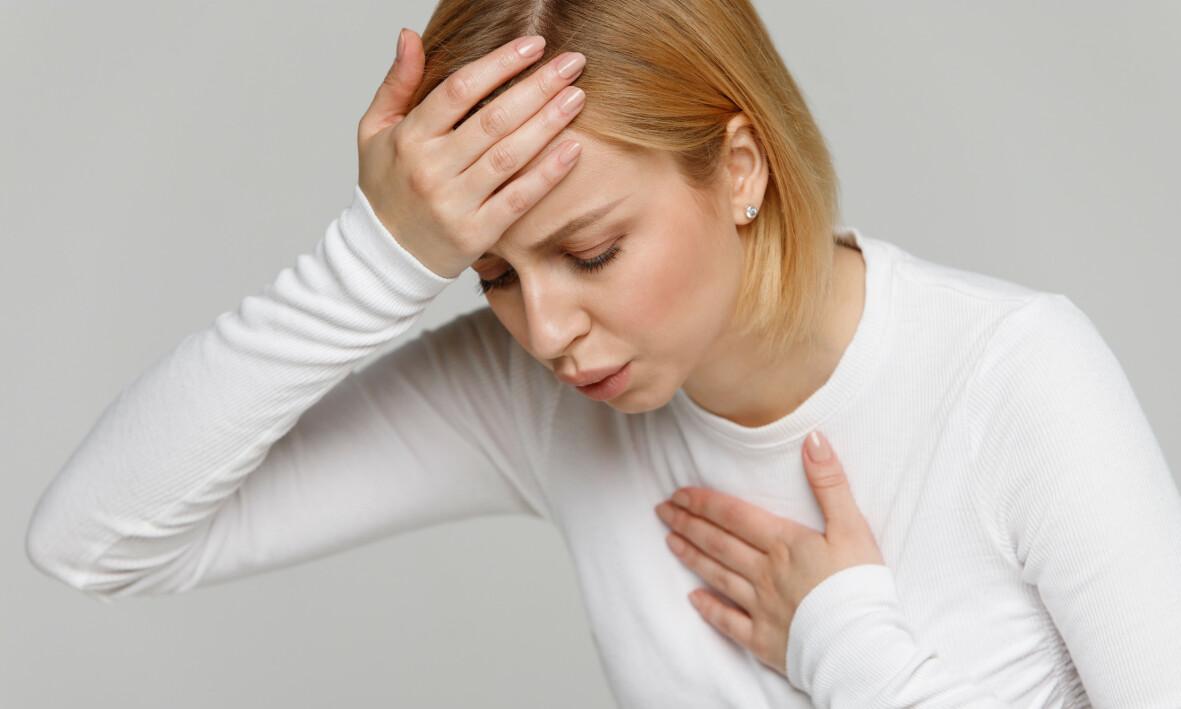 HYPERVENTILASJONSSYNDROM: Hyperventilasjonssyndrom er gjentatt overpusting og oppleves ofte som åndenød som er en følelse av å ikke få tilstrekkelig med luft. Foto: NTB Scanpix/Shutterstock.