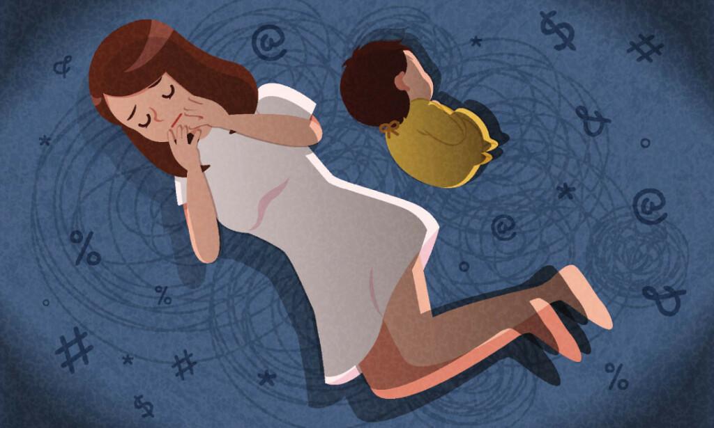 BABYBLUES: Barseltårer er et normalfenomen. Men hvordan vite om man er deprimert? Illustrasjon: NTB Scanpix/Shutterstock