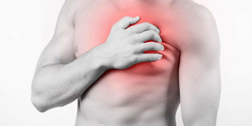 image: Smerter i brystkassen. Ikke hjertesykdom, men sannsynligvis muskulære årsaker