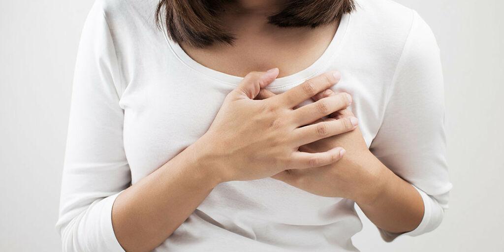 image: Trykk i brystet og uregelmessig hjerteaksjon