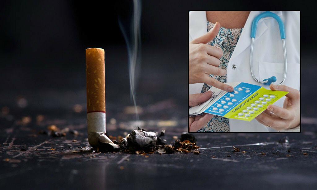 RØYKESTOPP: Det kan være svært vanskelig å stumpe røyken, heldigvis finnes det mulighet for å få hjelp. Foto: Pcess609 / NTB /Shutterstock (innfelt: Point Fr / NTB)