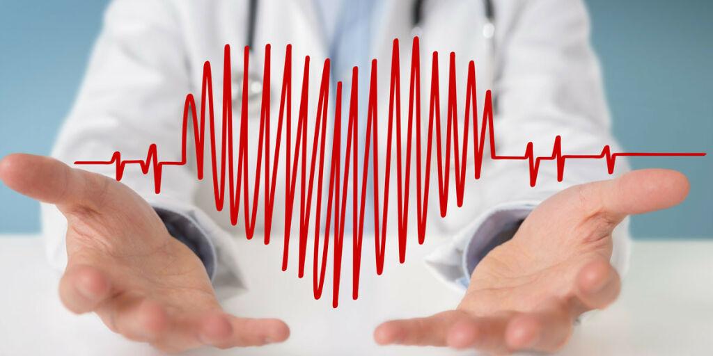 image: Synlige, kraftige hjerteslag