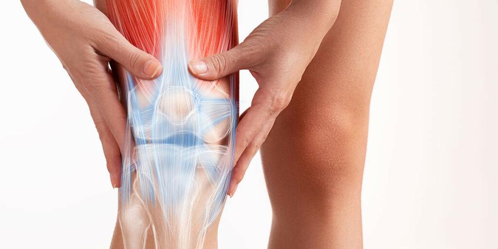image: Vondt kne etter styrketrening. Sannsynlig skade av menisk