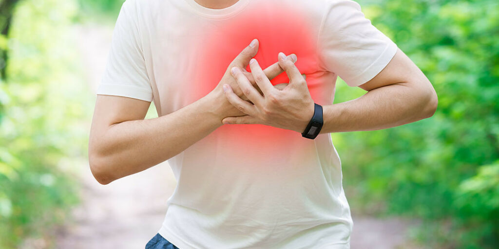 image: Plutselige støt med brystsmerter og rask puls