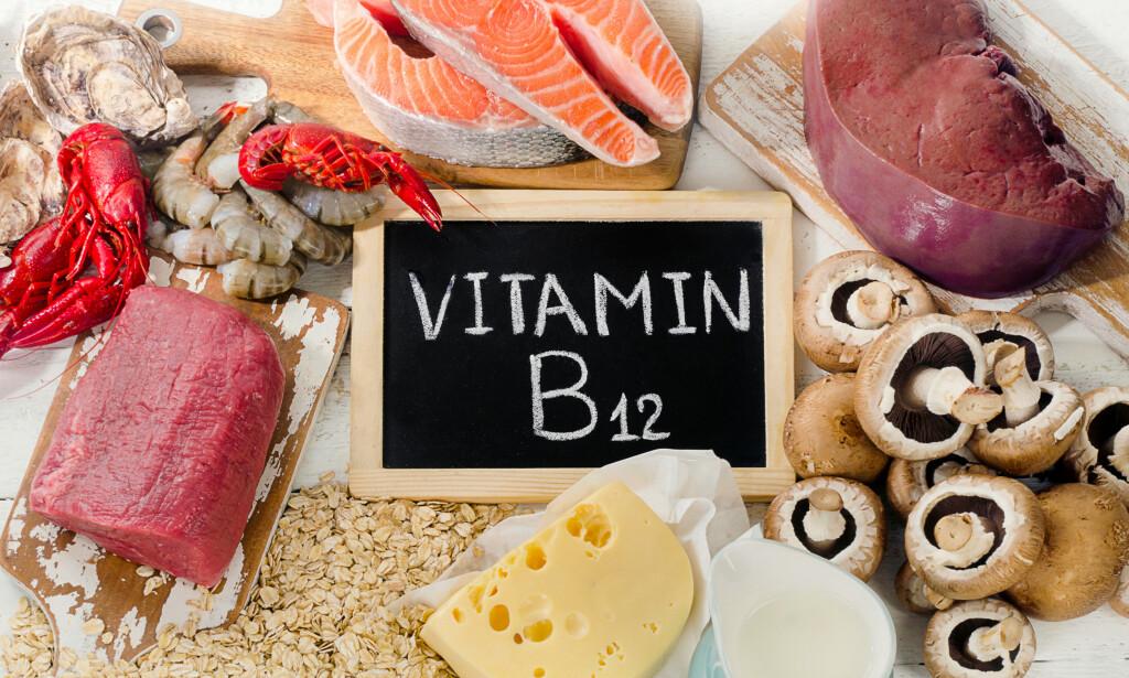 VITAMIN B12: Får vi hovedsaklig i oss via animalske produkter. Foto: Tatjana Baibakova / NTB