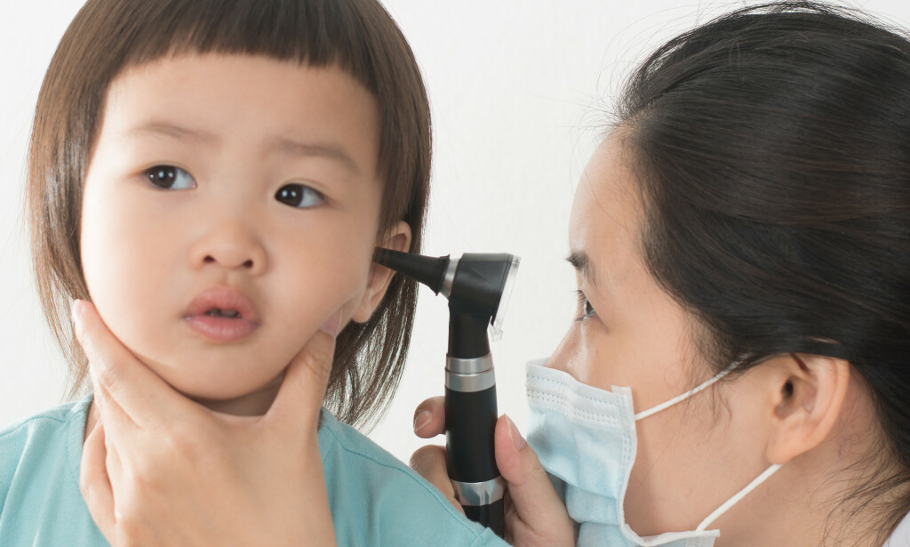 ØREBETENNELSE: Ørebetennelse er en vanlig infeksjonstilstand hos små barn. Foto: Peter Leee / NTB