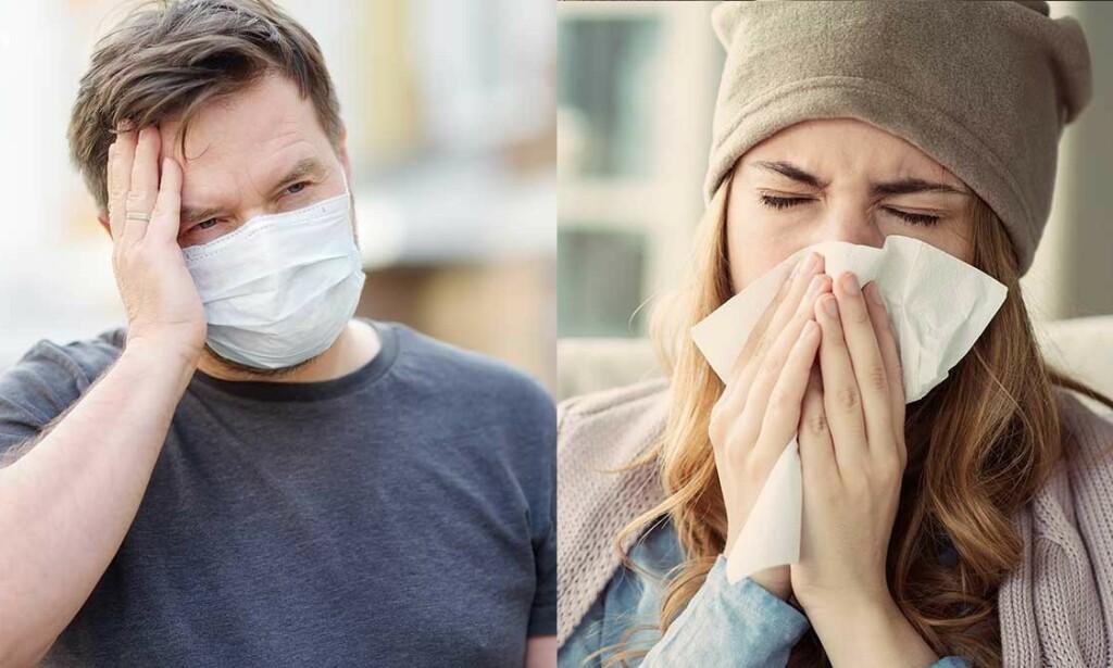 MILDE SYMPTOMER: Vaksinerte får færre symptomer som er mildere enn de som er uvaksinert. Og de blir raskere friske igjen. Foto: Maria Sbytova / sebra / Shutterstock / NTB