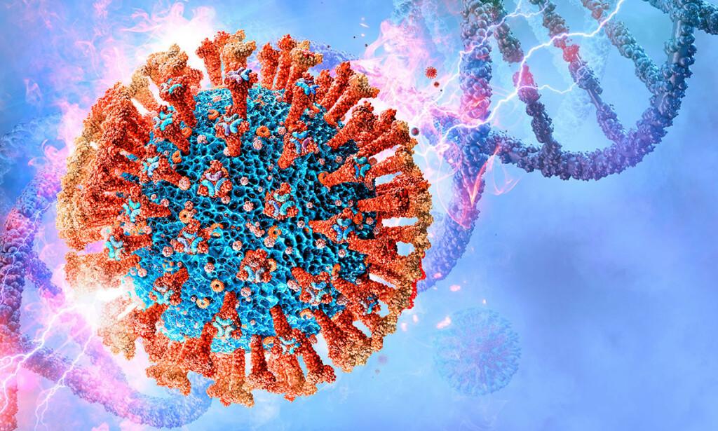 KORONAVIRUSET MUTERER: Stadig nye versjoner av viruset oppstår, og noen overvåkes nøye av WHO og nasjonale helsemyndigheter. Illustrasjon: Corona Borealis Studio / Shutterstock / NTB