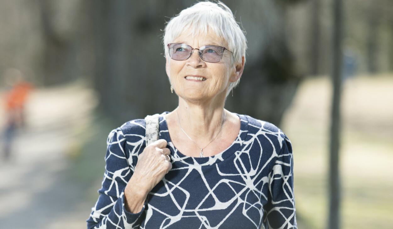 BUKSPYTTKJERTELKREFT: Torunn Oned Narvestad (72) overlevde kreftformen svært få overlever. Foto: Ellen Johanne Jarli